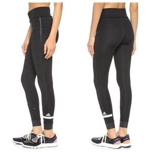 Stella McCartney Adidas Black Fold-Over Leggings